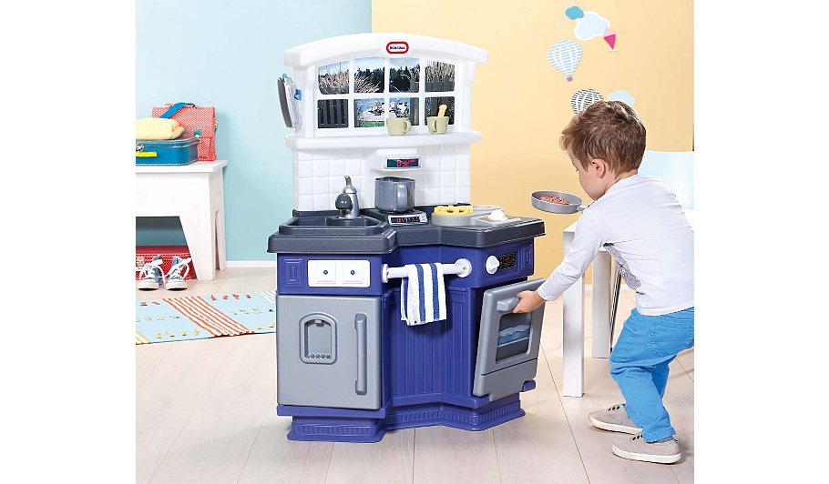 little tikes side by side kitchen kids george at asda. Black Bedroom Furniture Sets. Home Design Ideas