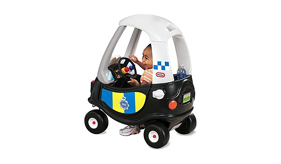 little tikes cozy coupe patrol police car kids george at asda