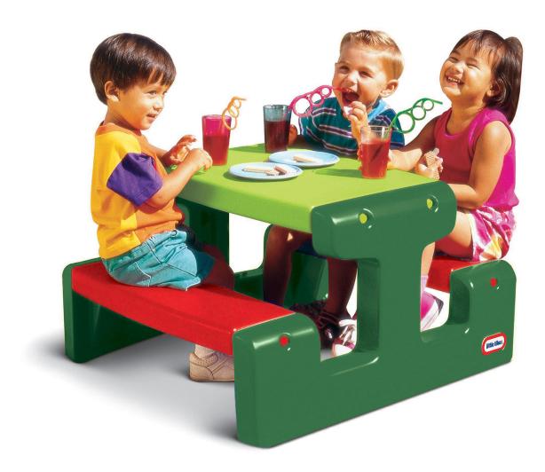 Little Tikes Junior Picnic Table Evergreen Kids