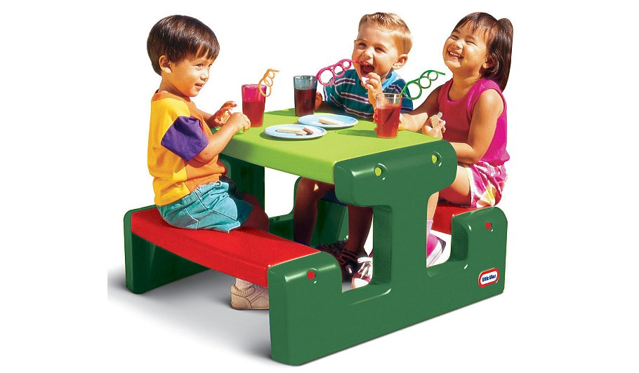 Little Tikes Junior Picnic Table : Little tikes junior picnic table evergreen kids
