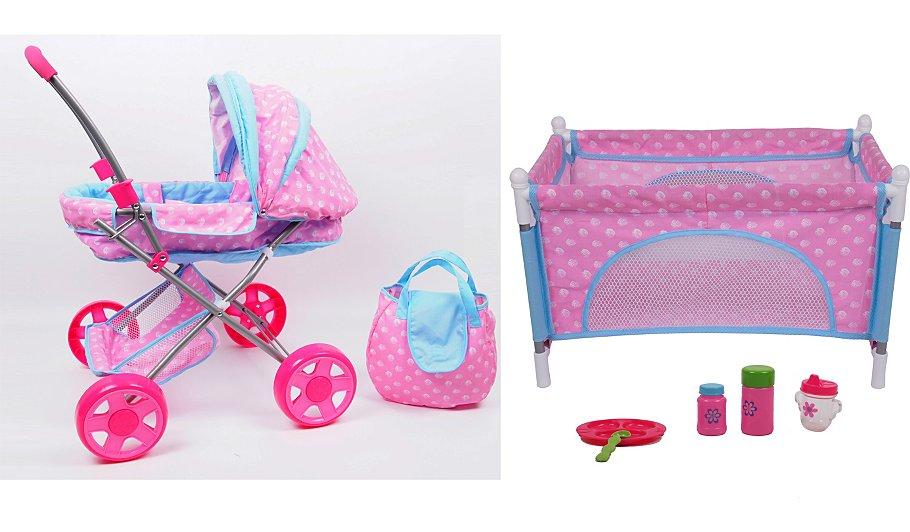 Baby Gift Set Asda : My sweet baby doll combo set pram playpen diaper bag