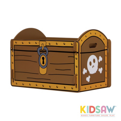 kidsaw pirate treasure chest toy box