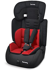 Harmony Venture Deluxe Harnessed Car Seat With Red Black Reversible Insert