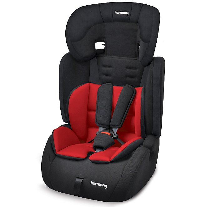 81d6bc178c6c Harmony Venture Deluxe Harnessed Car Seat with Red/Black Reversible ...