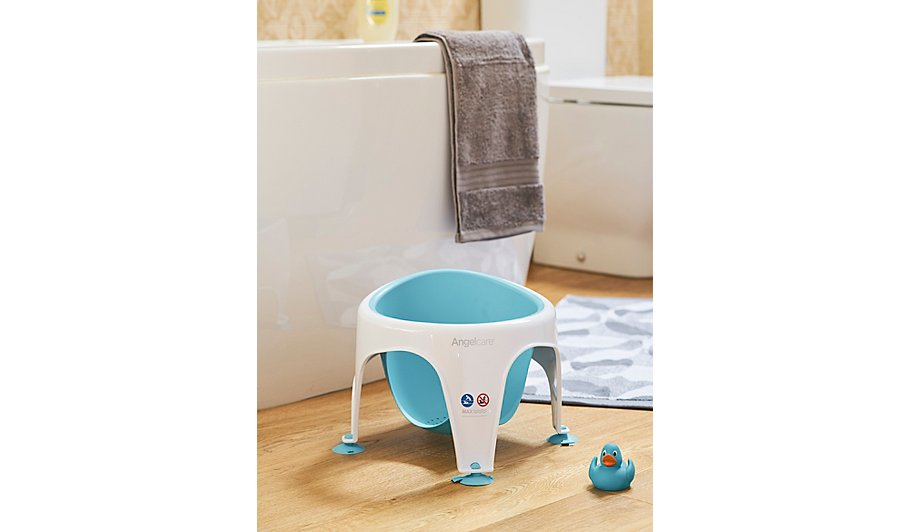 Angelcare Soft Touch Bath Seat Aqua Baby George