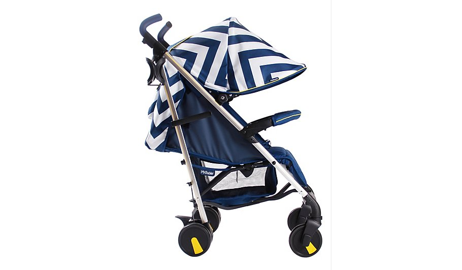 My Babiie MB51 Blue Chevron Stroller | Baby | George at ASDA