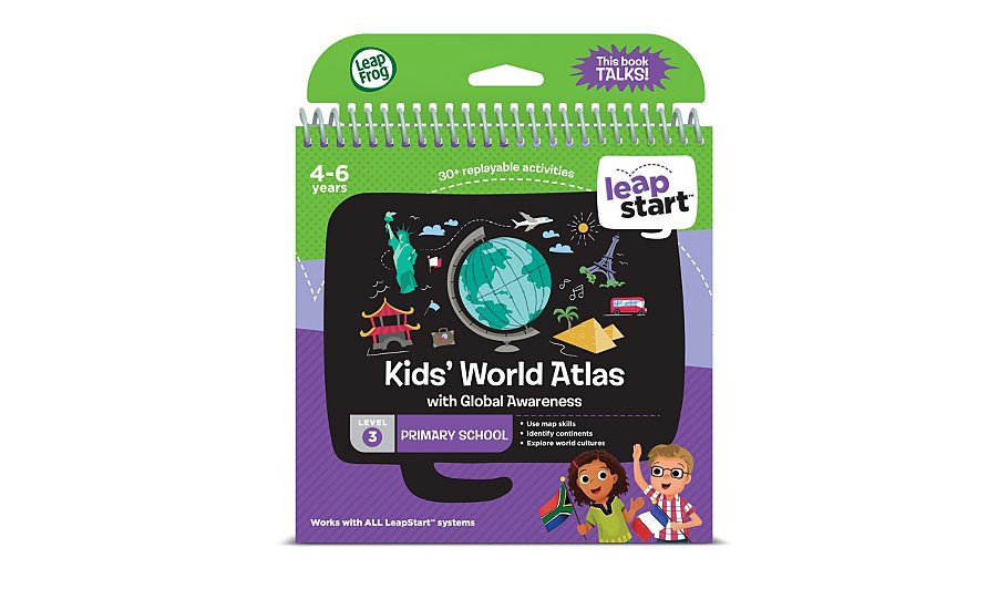 Leapfrog interactive learning system leapstart kids world atlas leapfrog interactive learning system leapstart kids world atlas toys character george gumiabroncs