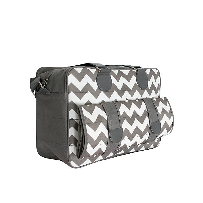 e24d0a2fbb7b1 My Babiie Billie Faiers Slate Chevron Deluxe Baby Changing Bag. Reset