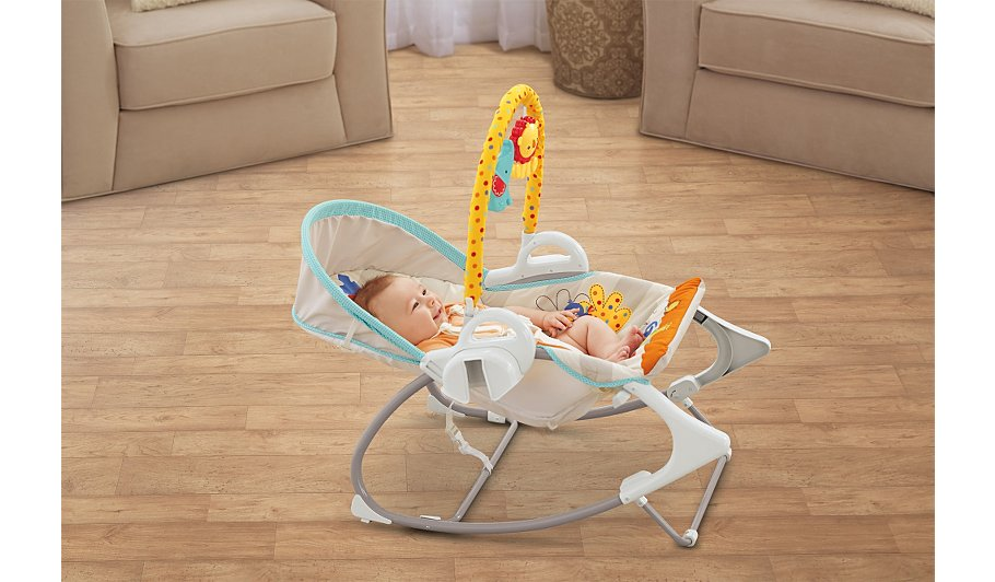 Fisher price 3 in 1 swing and rocker kids george at asda for Silla 3 en 1 fisher price