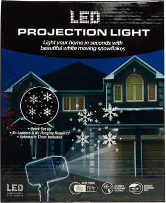 EZ Illuminations Christmas Motion Snow LED Projection Light