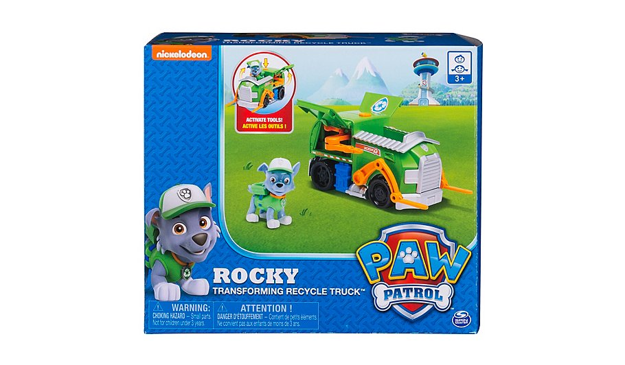 paw patrol rocky s transforming recycling truck toys character