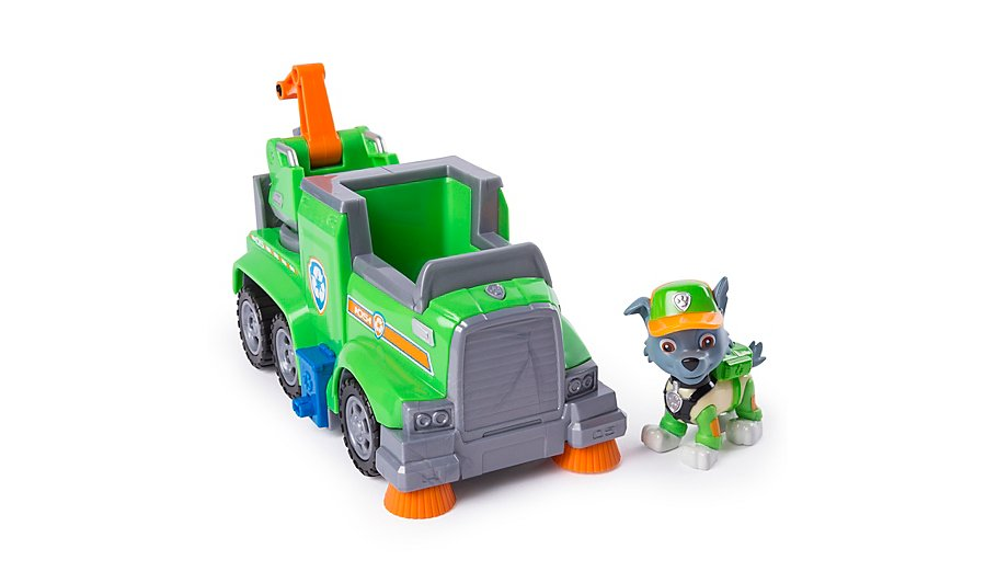paw patrol ultimate rescue rocky s ultimate rescue recycling truck