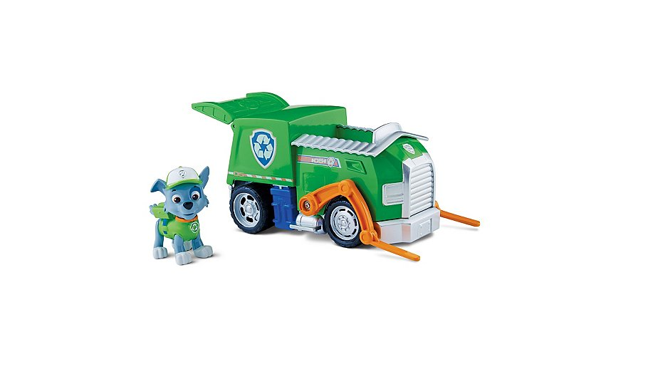 paw patrol vehicle with rocky toys character george