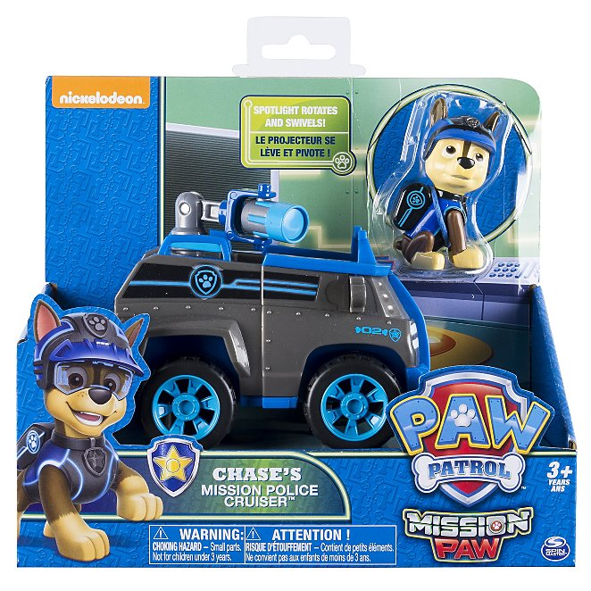 New Paw Patrol Basic Vehicle Chase Crusier Vehicle Playset
