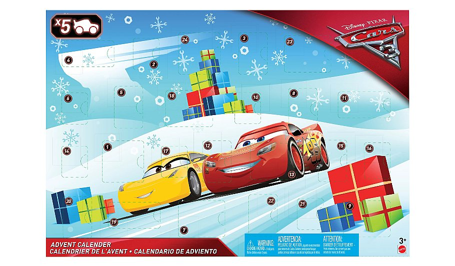 cars 3 advent calendar inspired by disney pixar cars 3. Black Bedroom Furniture Sets. Home Design Ideas