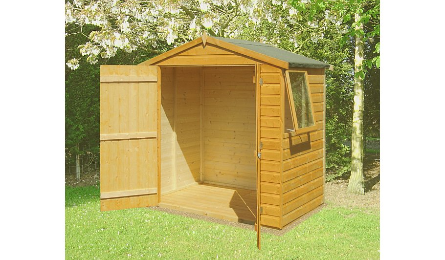 Fairwood shiplap double door garden shed 6 x 4 sheds for Garden shed 5 x 4