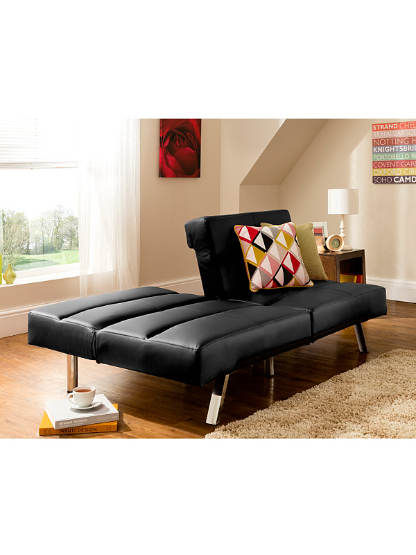 Click Clack Sofabed Faux Leather Black 129 00 At Asda Was