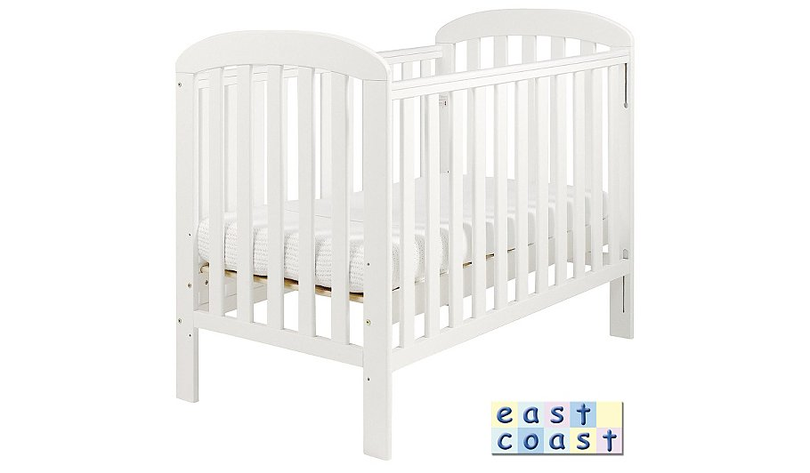 Anna Dropside Cot In White