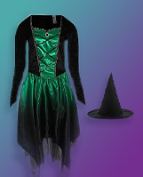 Floating George Halloween witch costume and hat