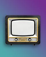 Cartoon old-fashioned TV