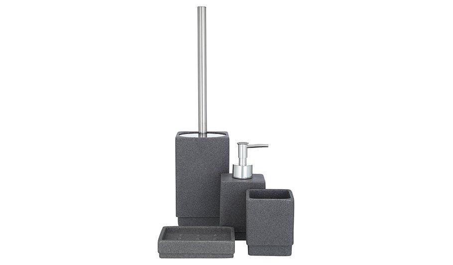 charcoal sandstone bath accessories range - Bathroom Accessories Grey