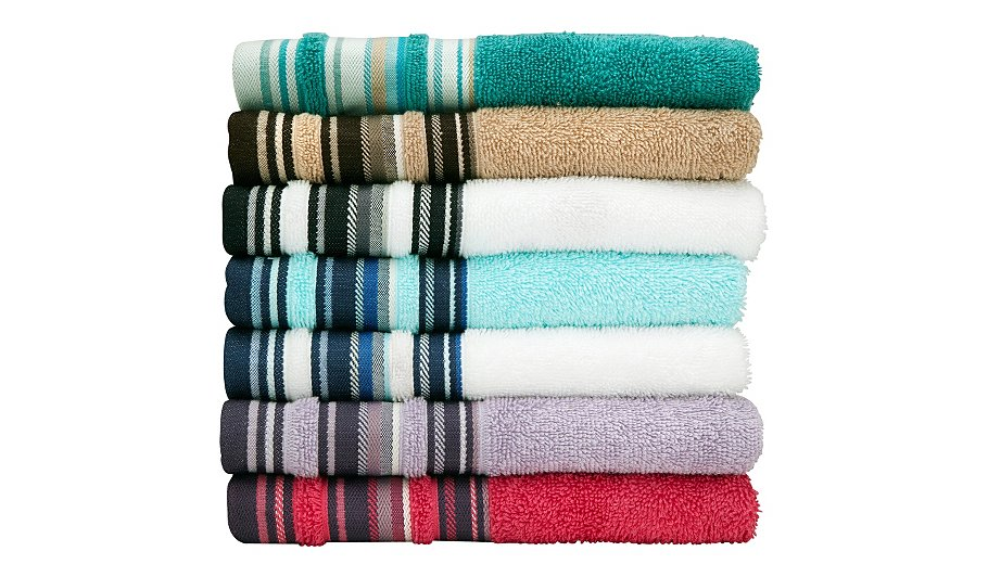 stripe hand towel 50 x 90 cm various colours towels. Black Bedroom Furniture Sets. Home Design Ideas