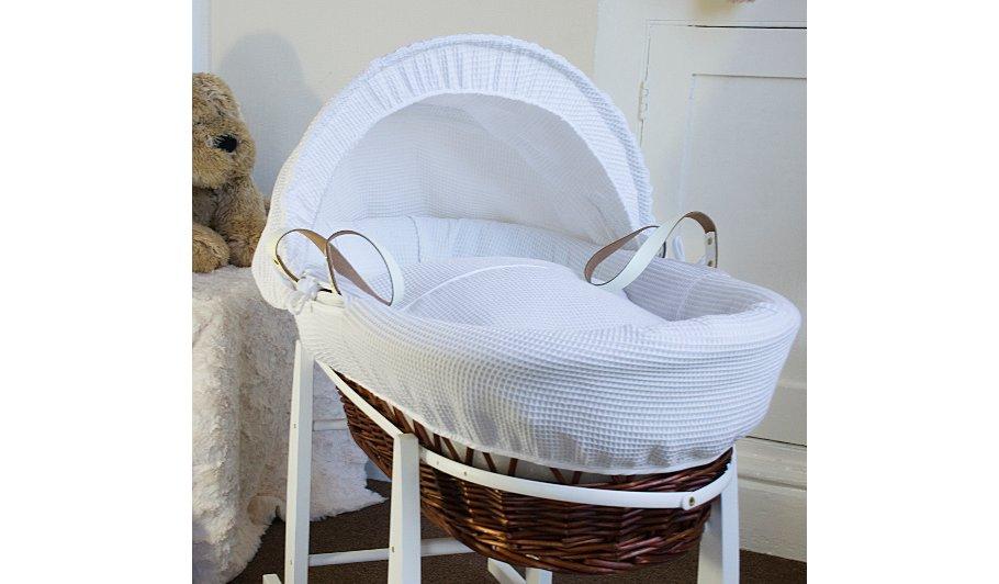 Baby Gift Basket Asda : Buy clair de lune dark wicker moses basket marshmallow