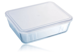Pyrex Glass Dish With Lid 1.5 Litre by Asda