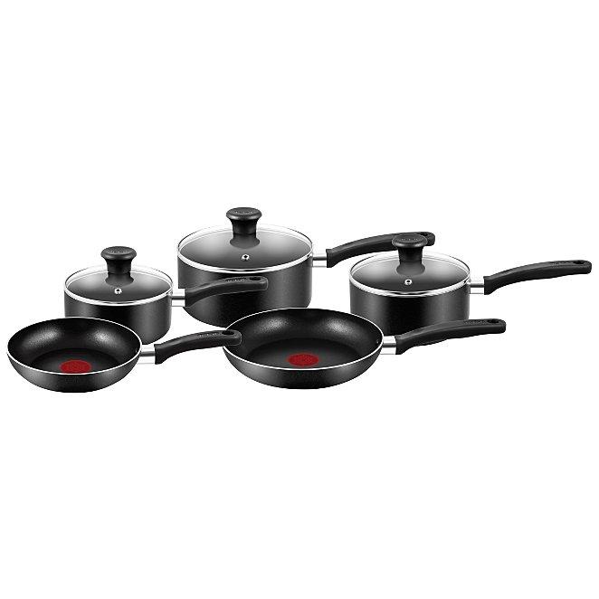 Tefal Essential 5 Piece Non Stick Cookware Pan Set Home Garden