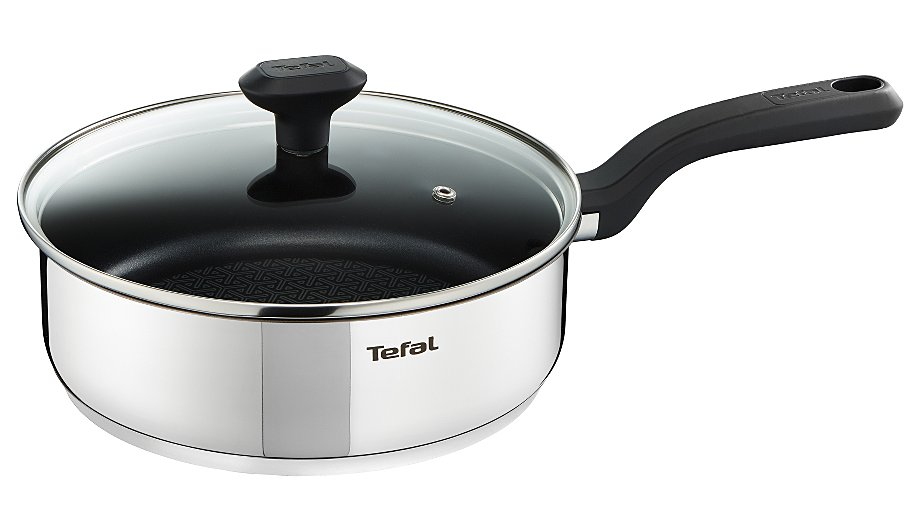 tefal comfort grip non stick induction hob saute pan 24cm. Black Bedroom Furniture Sets. Home Design Ideas