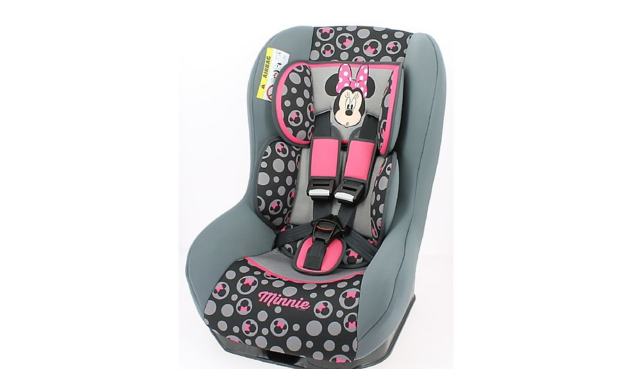 disney group 0 1 driver car seat minnie mouse baby george. Black Bedroom Furniture Sets. Home Design Ideas
