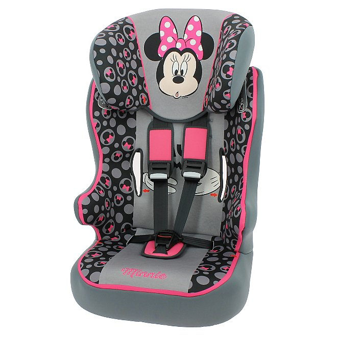 Disney Group 123 Racer High Back Booster With Harness Minnie Mouse