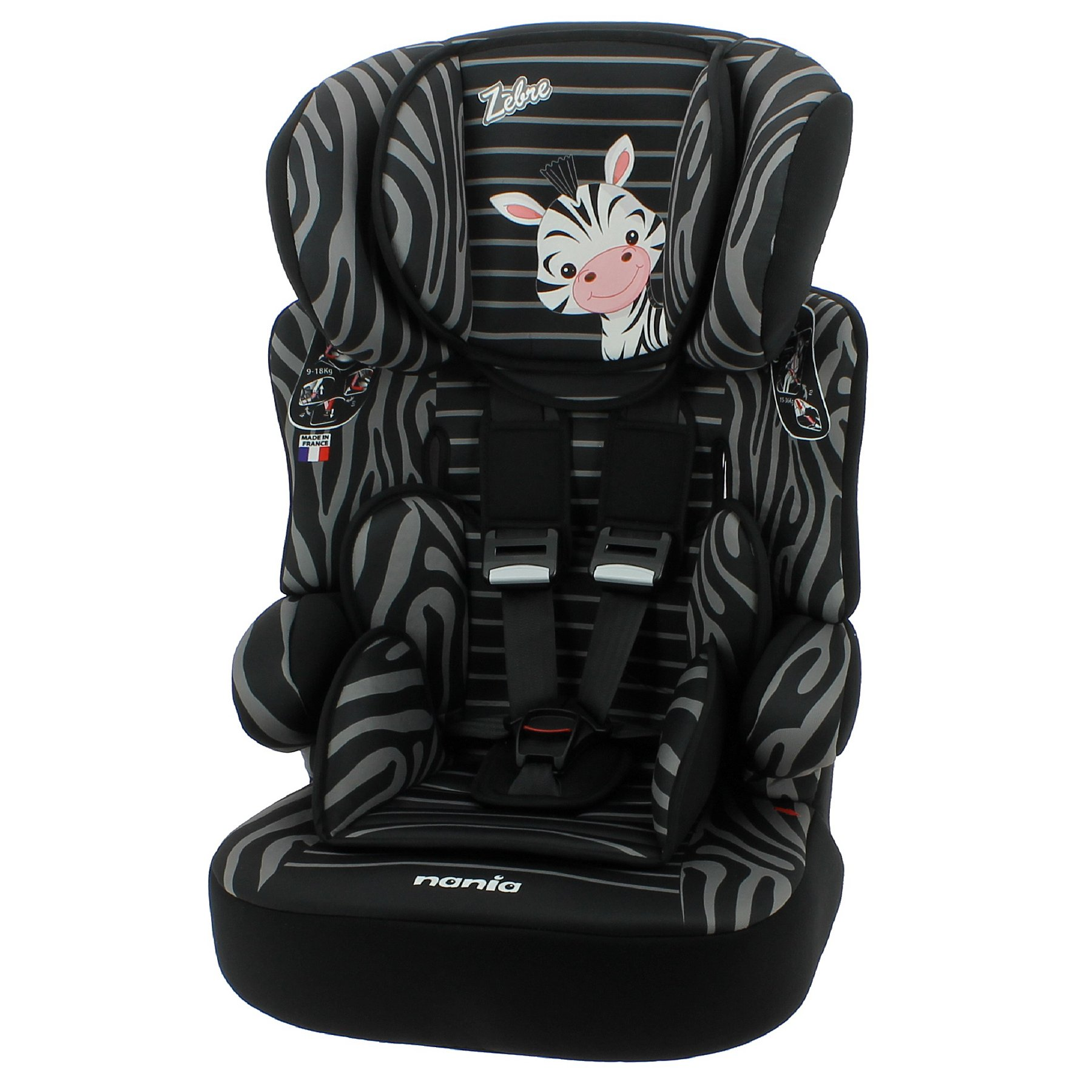 9a70a334385c Nania Group 123 Beline High Back Booster Seat with Harness - Zebra ...