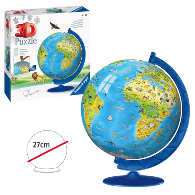 Ravensburger Children S World Globe 3d Jigsaw Toys Character