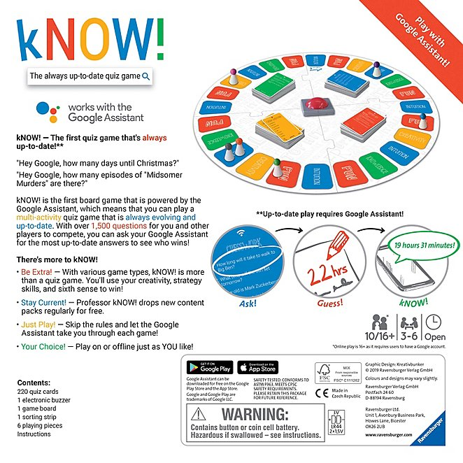 How Many Days Till Christmas Google.Ravensburger Know The First Internet Search Quizzical Board Game