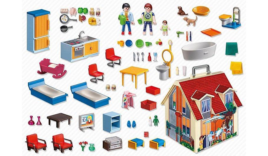 Playmobil take along dolls house kids george at asda for Casa playmobil 123