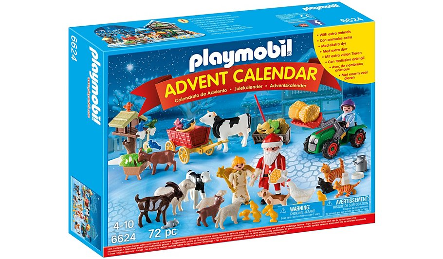 playmobil advent calendar 39 christmas on the farm 39 6624. Black Bedroom Furniture Sets. Home Design Ideas