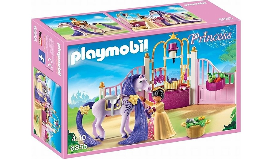 Playmobil princess castle stable 6855 toys character for Playmobil chambre princesse