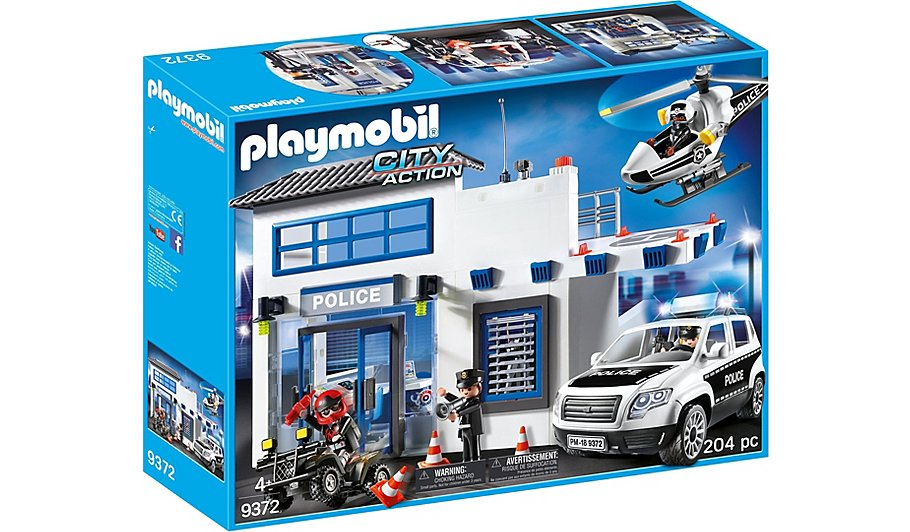 playmobil city action police station bundle 9372 toys character george - Playmobile Police