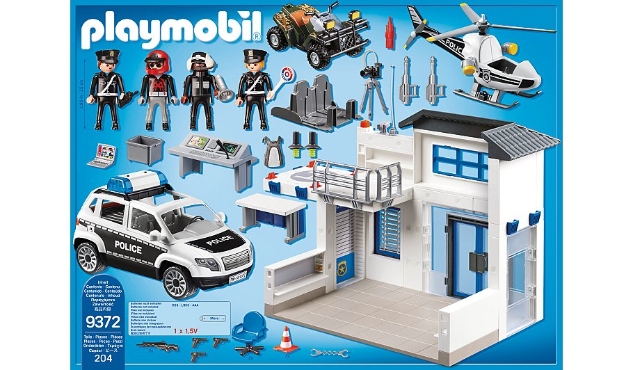 playmobil city action police station bundle 9372 toys. Black Bedroom Furniture Sets. Home Design Ideas