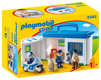 Playmobil 9382 1.2.3 Take Along Police Station and Cells