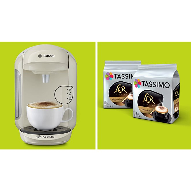Bosch Tassimo Tas1402gb Vivy Coffee Machine Black