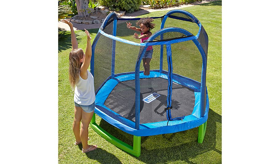 Sportspower 7ft My First Trampoline Enclosure Kids George At Asda