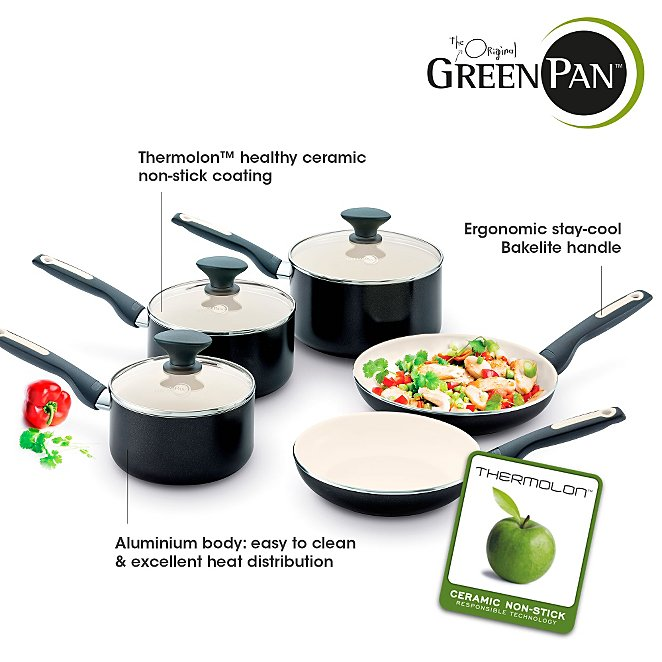 GreenPan 5 Piece Sofia Pan Set