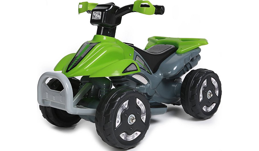 Kids Ride On 6v Battery Powered Atv Quad Green Toys