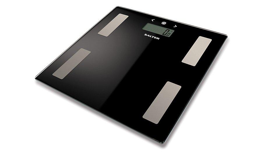 Salter Yser Bathroom Scales Black