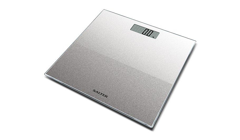 Salter Silver Electronic Glitter Platform Scales Home Garden