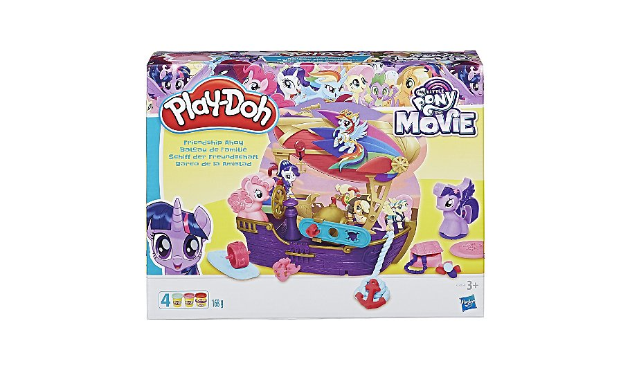 play doh my little pony the movie friendship ahoy pirate ship toys