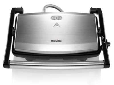 breville vst049 cafe style 2 slice sandwich toaster stainless steel kettles u0026 toasters george at asda