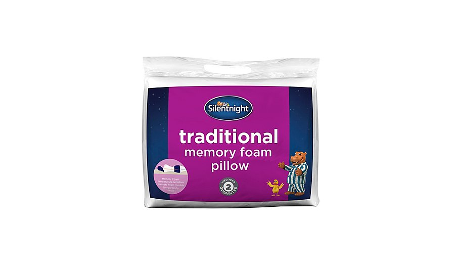 Perfect Pillow Memory Foam Traditional Bed Pillow : Silentnight Traditional Memory Foam Pillow Home & Garden George at ASDA